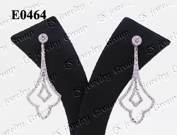 ต่างหูเพชร (Diamonds Earring) เพชร Heart & Arrow - Russian Cut Finest Diamonds