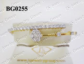 กำไลเพชร (Diamonds Bangle) เพชร Heart & Arrow - Russian Cut Finest Diamonds