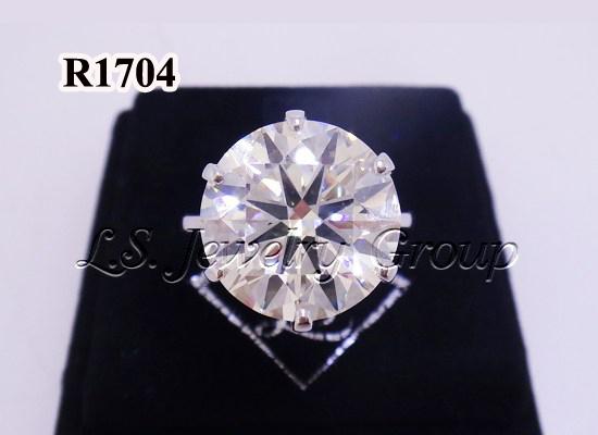 แหวนเพชรชู 7.62 ct. เพชร Heart & Arrow