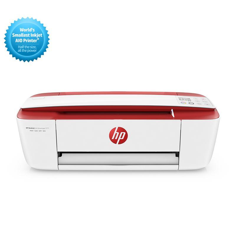 มัลติฟังก์ชั่นอิงค์เจ็ทแดง HP DeskJet Ink Advantage 3777