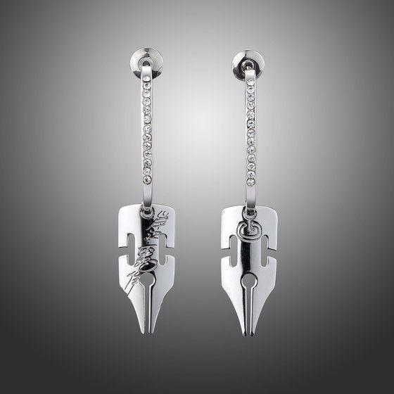 [ราคา 6,000/มัดจำ 5,000][ธันวาคม2563] JOJO Kishibe Rohan G-Pen Earrings SILVER Ver.1, ตุ้มหู ต่างหู คิชิเบะ โรฮัง สีเงิน, โจโจ้ ล่าข้ามศตวรรษ ภาค 4, เพชรแท้ไม่มีวันสลาย, Jojo's Bizarre Adventure Part 4, Diamond is unbreakable