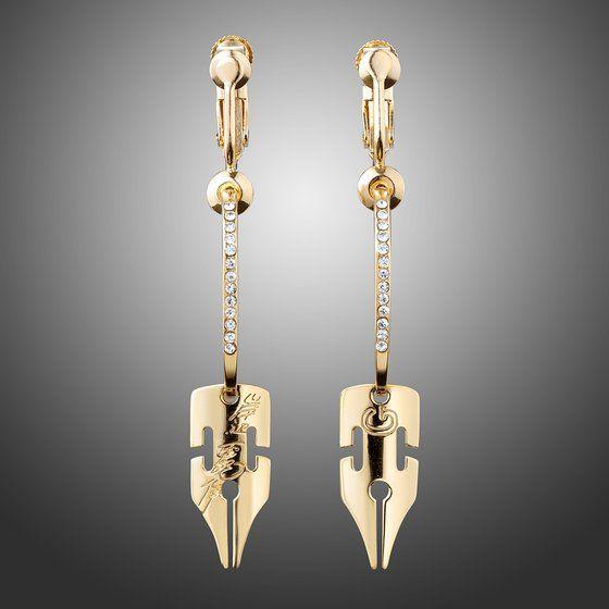 [Price 6,000/Deposit 5,000][DEC2020] JOJO Kishibe Rohan G-Pen Earrings GOLD Ver.2, Jojo's Bizarre Adventure Part 4, Diamond is unbreakable