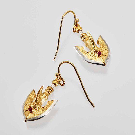 [Price 6,400/Deposit 4,000][MAR2021] JOJO, Golden Arrow Earrings, Jojo's Bizarre Adventure Part 5, Vento Aureo, Golden Wind