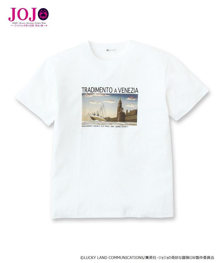 [Price 2,300/Deposit 1,300][Please Read All Detail][SEP2019] JOJO tk.TAKEO KIKUCHI, T-Shirt Venice Tradimento A Venezia, WHITE, เสื้อยืดทีเชิร์ต สีขาว,เวนิซ, โจโจ้ ล่าข้ามศตวรรษ ภาค 5 สายลมทองคำ, Jojo's Bizarre Adventure Part 5, Vento Aureo, Golden W
