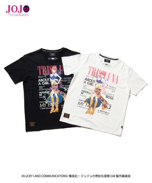 [Price 3,450/Deposit 2,450][Released] Glamb, T-Shirt,Trish Una, Jojo's Bizarre Adventure Part 5, Golden Wind