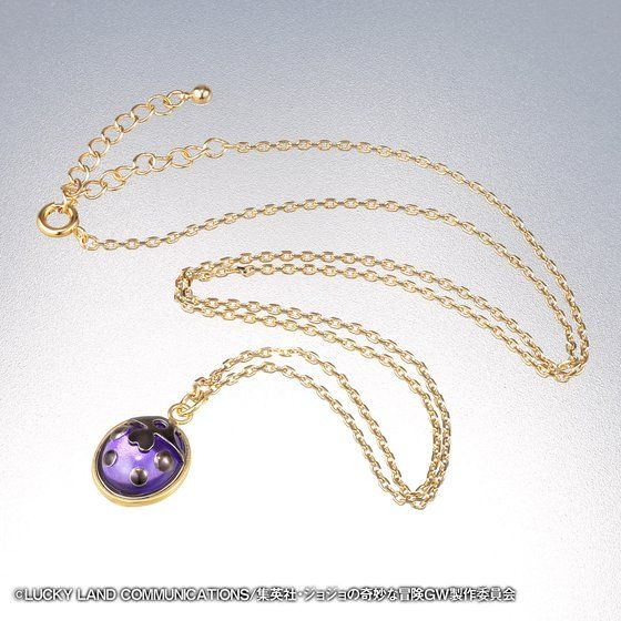 [Price 6,300/Deposit 4,500][MAY2021] JOJO Golden Wind Gold Experience Ladybug Necklace, Jojo's Bizarre Adventure Part 5, Vento Aureo, Golden Wind