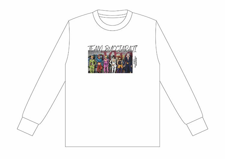 [Price 2,150/Deposit 1,000][Please Read All Detail] JOJO Long Sleeve T-Shirt Bucciarati Team, WHITE, SPINNS, เสื้อทีเชิร์ตแขนยาว สีขาว, ทีมบูจาราตี้, โจโจ้ ล่าข้ามศตวรรษ ภาค 5, สายลมทองคำ, Jojo's Bizarre Adventure Part 5, Golden Wind