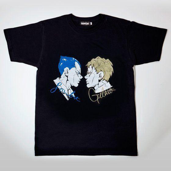 [Price 2,400/Deposit 1,400][DEC2020] JOJO T-Shirt Sorbet, Gelato, BLACK, Jojo's Bizarre Adventure Part 5, Vento Aureo, Golden Wind