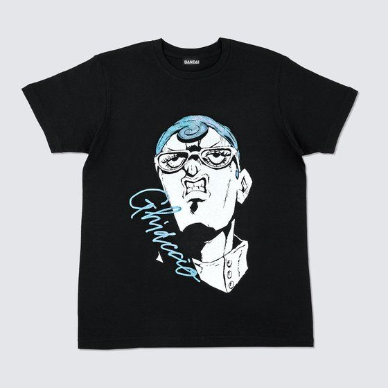 [Price 2,400/Deposit 1,400][DEC2020] JOJO T-Shirt Ghiaccio BLACK, Premium Bandai, JoJo's Bizarre Adventure Part 5, Vento Aureo, Golden Wind