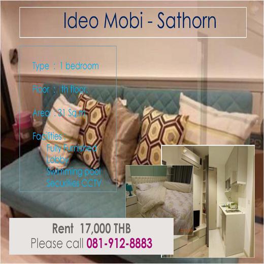 Ideo Mobi Sathorn ไอดีโอ โมบิ สาทร ID - 61167 - 192115