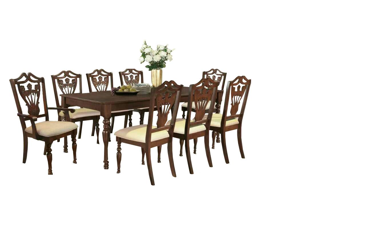 ชุดโต๊ะอาหารไม้ 8 ที่นั่ง