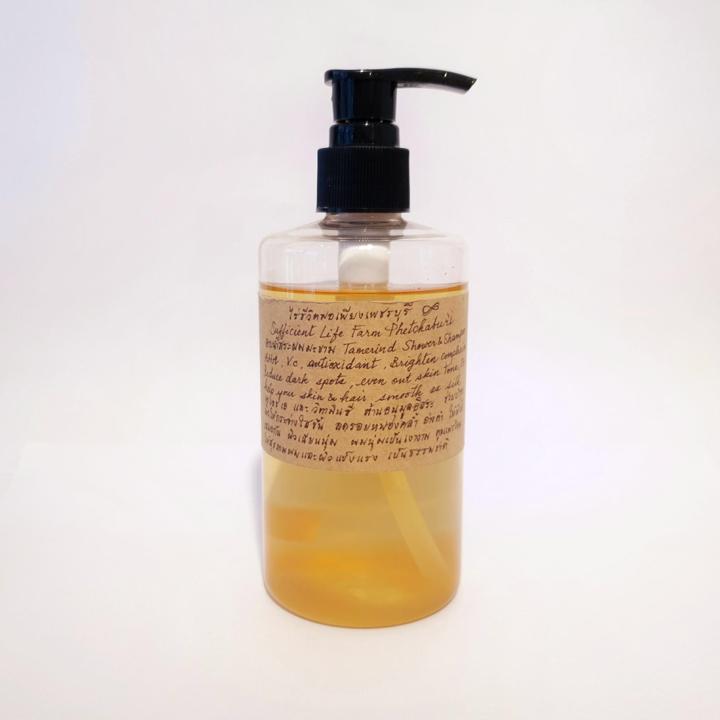 อาบน้ำสระผม ไร่ชีวิตพอเพียงเพชรบุรี  สูตรมะขาม AHA