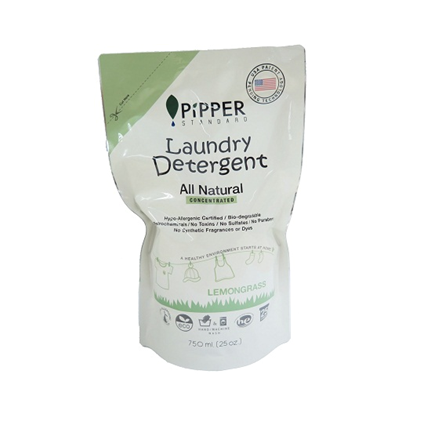 home care natural PIPPER laundry detegent Lemongrass 750ML. Refill