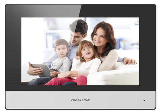 DS-KH6320-TE1 : Video Intercom Indoor Station with 7-Inch Touch Screen