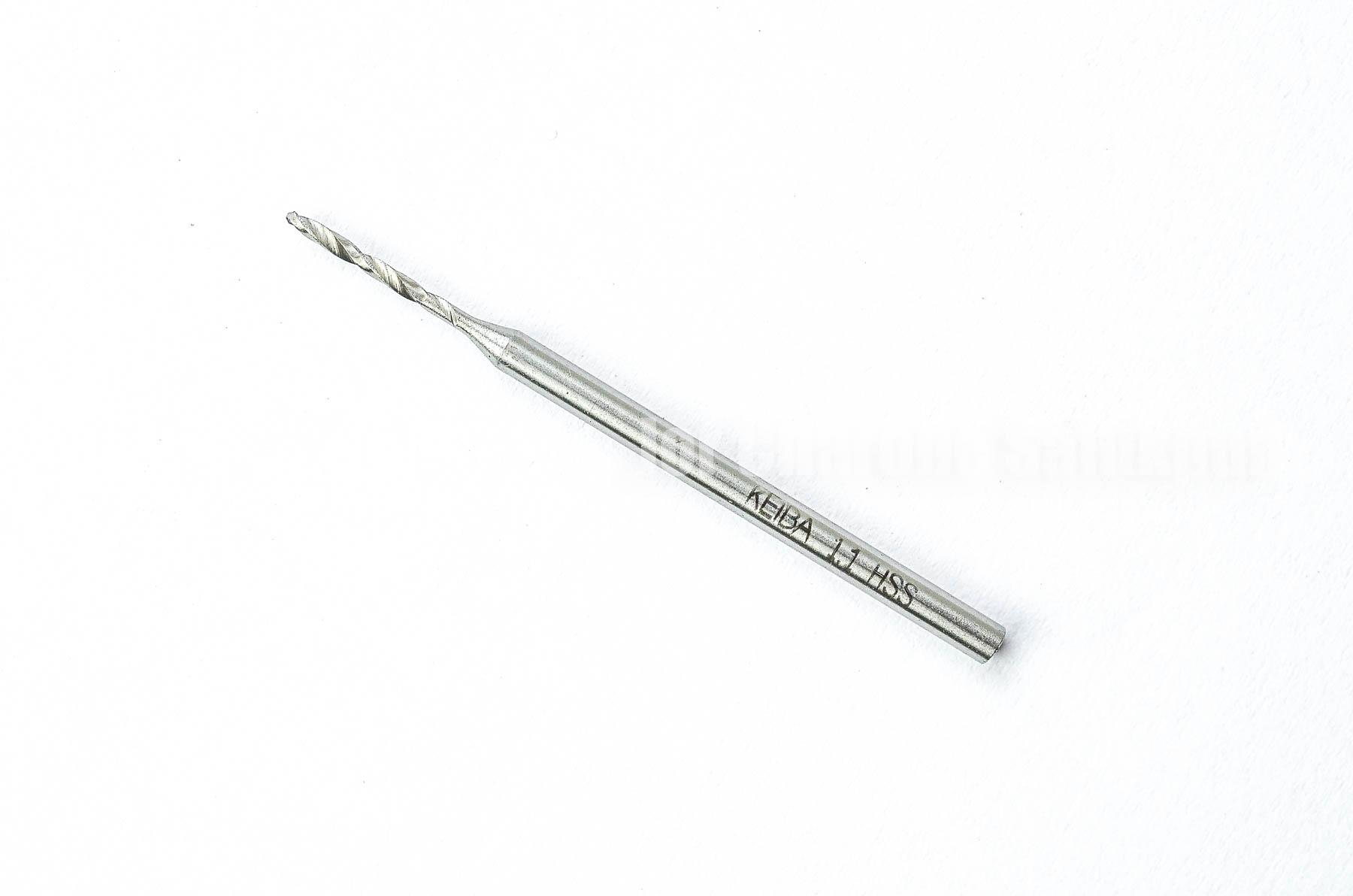 ดอกสว่านจิ๋วแกนโตเจาะเหล็ก KEIBA 1.1 mm