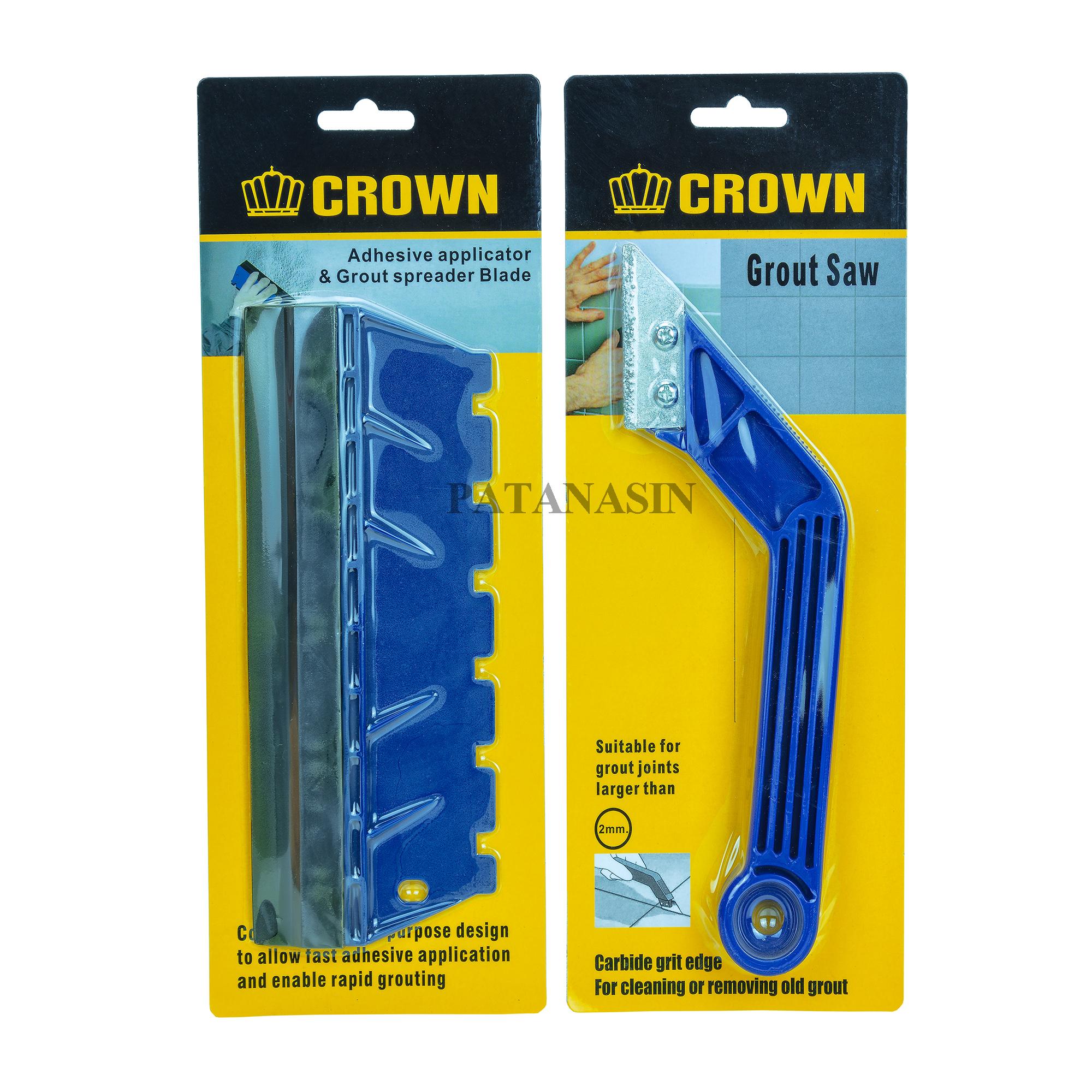 อุปกรณ์ขูดร่องยาแนว & เกียงพลาสติกปาดยาแนว CROWN