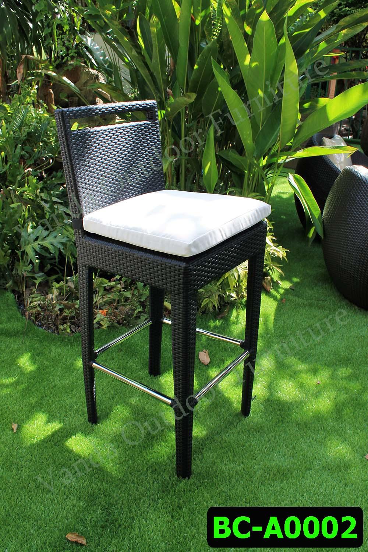 ชุดบาร์ เก้าอี้บาร์หวายเทียม  รหัสสินค้า BC-A0002