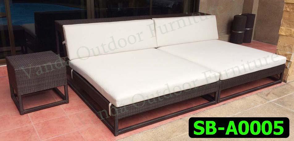 เตียงสระน้ำ/เตียงนอน หวายเทียม รหัสสินค้า SB-A0005