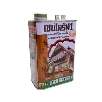 Chaindrite เชน์ไดร้ท์ 1 ผลิตภัณฑ์รักษาเนื้อไม้ ทาไม้ป้องกันเชื้อราและปลวก แอลบี สีชา ขนาด 1.8 ลิตร