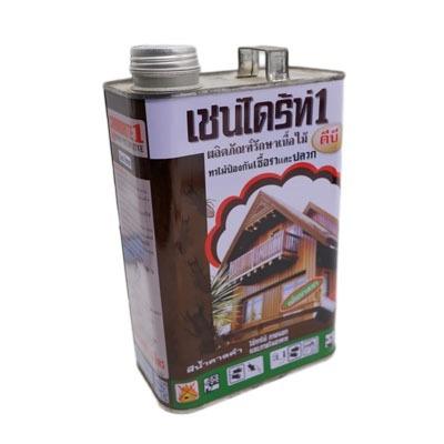 Chaindrite เชน์ไดร้ท์ 1 ผลิตภัณฑ์รักษาเนื้อไม้ ทาไม้ป้องกันเชื้อราและปลวก แอลบี สีน้ำตาลดำ ขนาด 1.8 ลิตร ลิตร