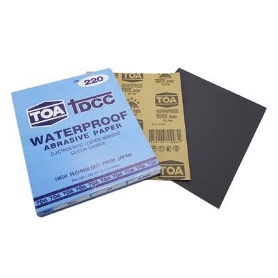 กระดาษทรายขัดน้ำ TOA TDCC เบอร์ 220 จำนวน 60 แผ่น