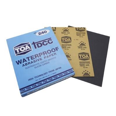 กระดาษทรายขัดน้ำ TOA TDCC เบอร์ 240 จำนวน 60 แผ่น