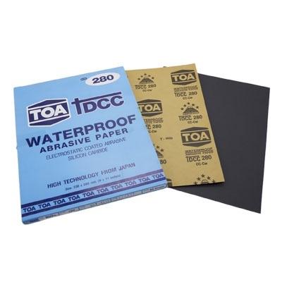 กระดาษทรายขัดน้ำ TOA TDCC เบอร์ 280 จำนวน 60 แผ่น