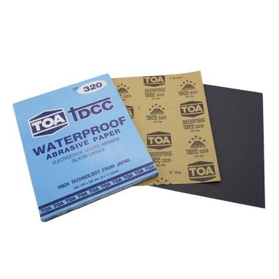กระดาษทรายขัดน้ำ TOA TDCC เบอร์ 320 จำนวน 60 แผ่น
