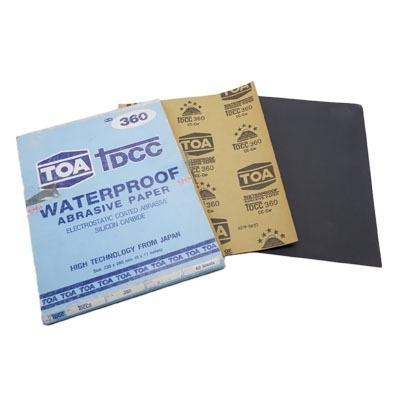 กระดาษทรายขัดน้ำ TOA TDCC เบอร์ 360 จำนวน 60 แผ่น