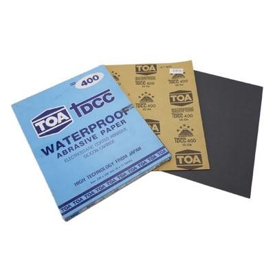 กระดาษทรายขัดน้ำ TOA TDCC เบอร์ 400 จำนวน 60 แผ่น