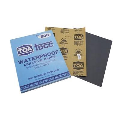 กระดาษทรายขัดน้ำ TOA TDCC เบอร์ 500 จำนวน 60 แผ่น