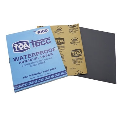 กระดาษทรายขัดน้ำ TOA TDCC เบอร์ 1000 จำนวน 60 แผ่น