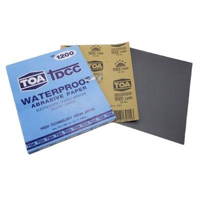 กระดาษทรายขัดน้ำ TOA TDCC เบอร์ 1200 จำนวน 60 แผ่น