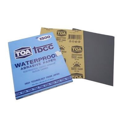 กระดาษทรายขัดน้ำ TOA TDCC เบอร์ 1500 จำนวน 60 แผ่น