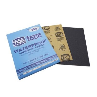 กระดาษทรายขัดน้ำ TOA TDCC เบอร์ 100 จำนวน 60 แผ่น