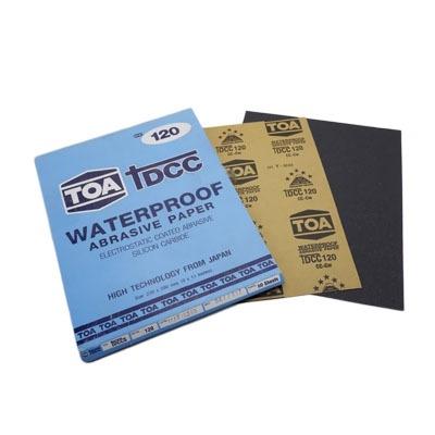 กระดาษทรายขัดน้ำ TOA TDCC เบอร์ 120 จำนวน 60 แผ่น