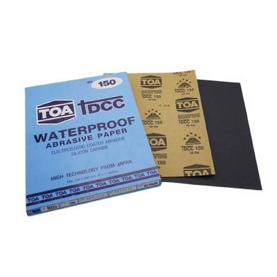 กระดาษทรายขัดน้ำ TOA TDCC เบอร์ 150 จำนวน 60 แผ่น