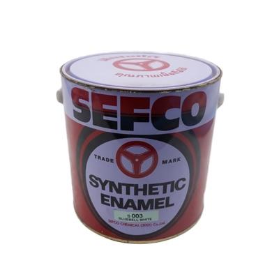 SEFCO สีเคลือบเงาเซฟโก้ สำหรับช้ภายนอกและภายใน S 003 BLUEBELL WHITE ขนาด 3.4 ลิตร