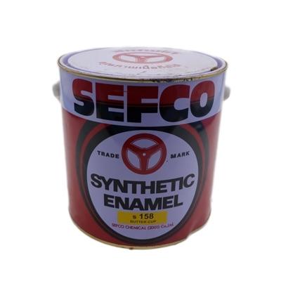 SEFCO สีเคลือบเงาเซฟโก้ สำหรับช้ภายนอกและภายใน S 158 BUTTER CUP ขนาด 3.4 ลิตร