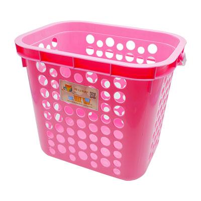 ตะกร้าผ้า TWIN BASKET สีชมพู No.5010