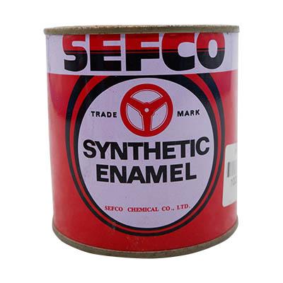 SEFCO สีเคลือบเงาเซฟโก้ สำหรับช้ภายนอกและภายใน S 160 SULPHUR YELLOW ขนาด 0.333 ลิตร