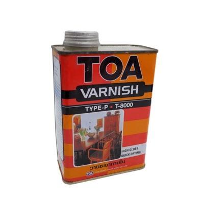 TOA น้ำมันวานิชเงาทาภายใน รุ่น T-8000 ขนาด 1/4 แกลลอน