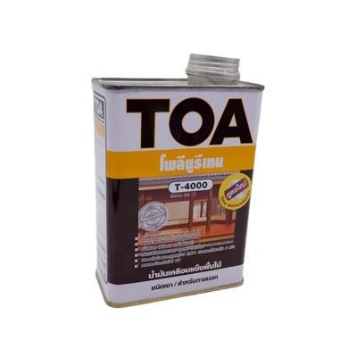 TOA โพลียูรีเทน T-4000 0.946 ลิตร น้ำมันเคลือบแข็งชนิดเงา สำหรับพื้นไม้ภายในที่แดดส่องถึง