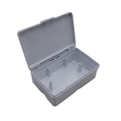 บล็อกลอยกันน้ำ กล่องกันน้ำ ABS รุ่นใหม่ nasaki รุ่น 9119 ฝาเทา 2x4 นิ้ว