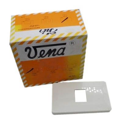 วีน่า ฝาพลาสติก 1 ช่อง (สีขาว) MC0001 (1ชุด)