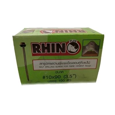 RHINO สกรูปลายสว่านยึดกระเบื้องลอนคู่กับแปไม้ 10x90 (3.5 นิ้ว)