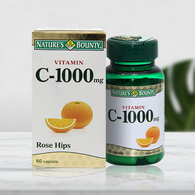 Nature's Bounty Vitamin C  1000 mg. (Rose Hips) 60 Caplets