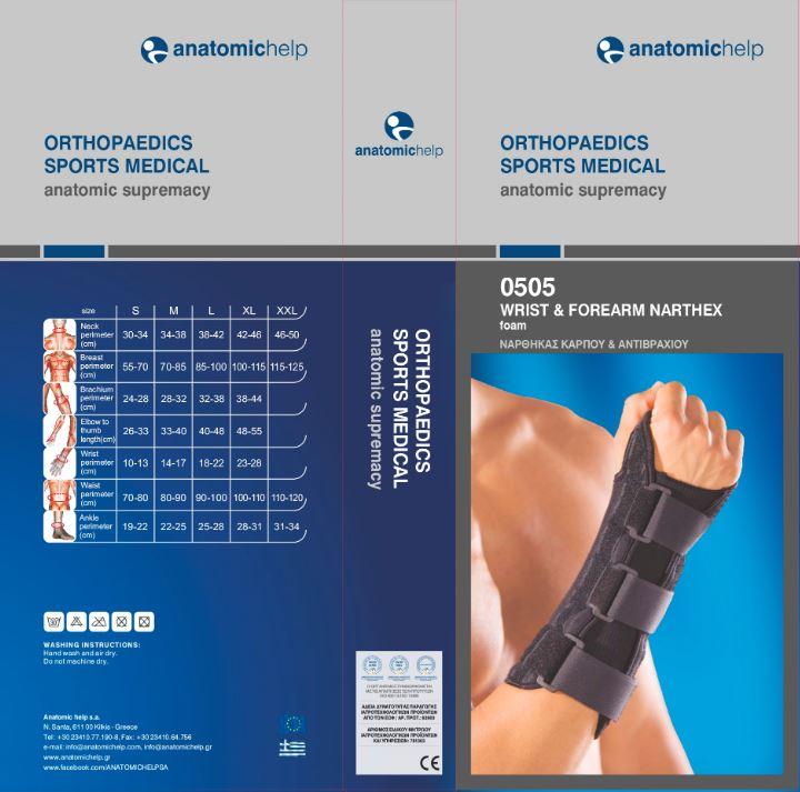 อุปกรณ์ล็อกข้อมือและกล้ามเนื้อท่อนแขนด้านล่าง (โฟม)
