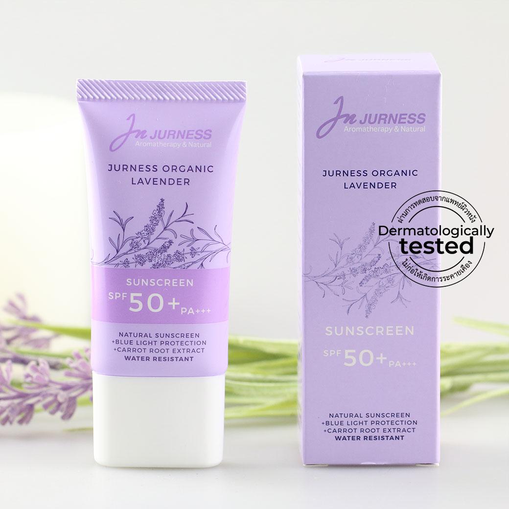 Jurness, Jurness Organic Lavender Sunscreen, Jurness Organic Lavender Sunscreen รีวิว, Jurness Organic Lavender Sunscreen ราคา, Jurness Organic Lavender Sunscreen Review, ครีมกันแดดกันน้ำ, ครีมกันแดดออร์แกนิค, ครีมกันแดด