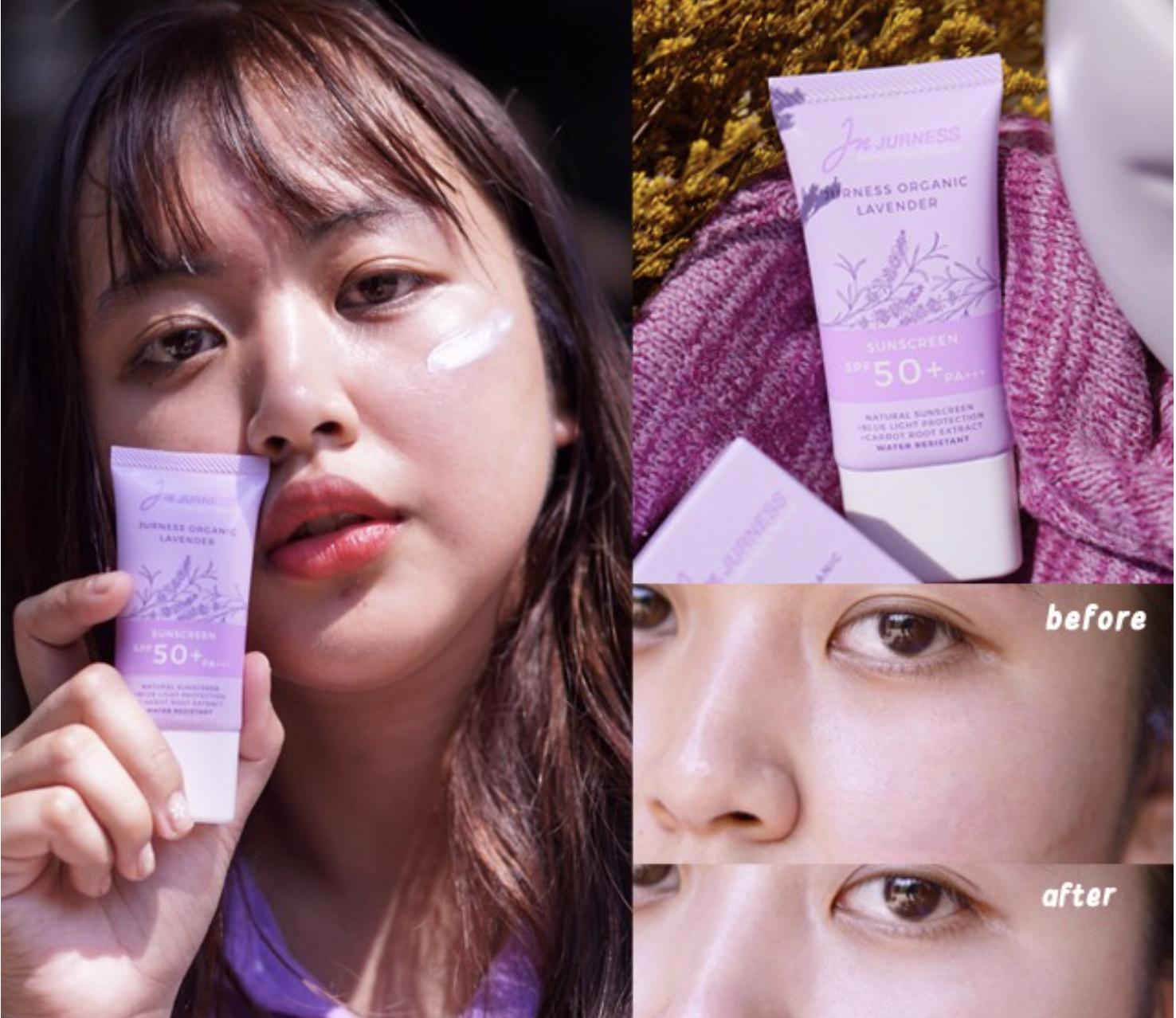 Review : JURNESS Organic Lavender Sunscreen SPF 50 PA+++ (SPF 67)